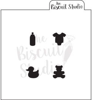 Amazing Baby Shower Icons Cookie Stencil