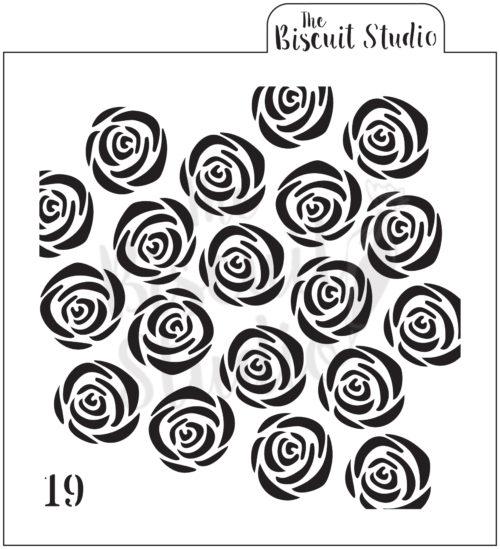 *Rose Pattern cookie stencil
