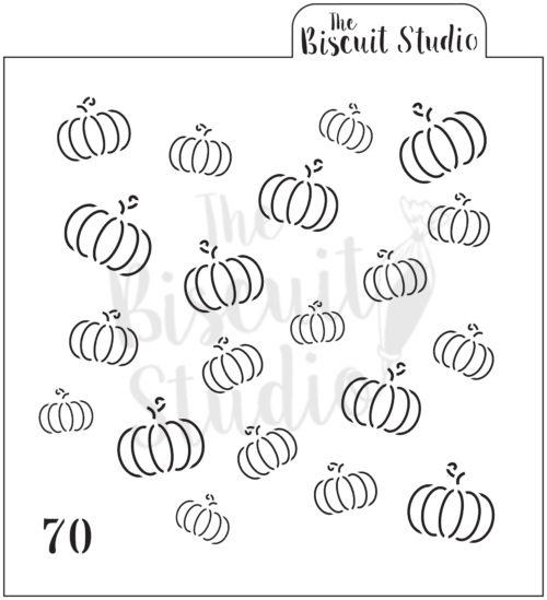 Pumpkins Background cookie stencil (retiring)