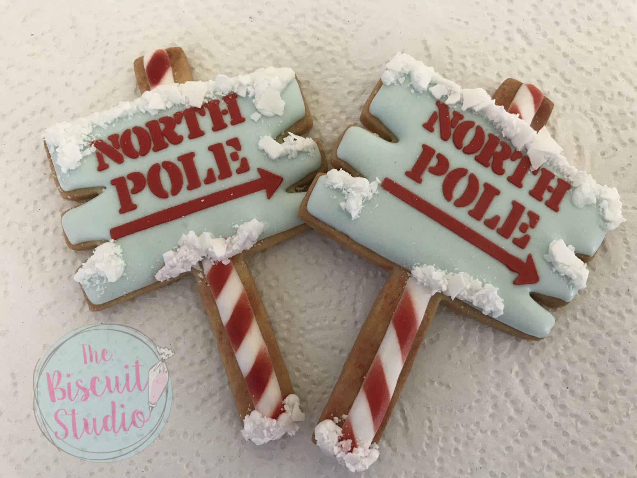 Christmas North Pole Reindeer Cookie Stencil The Biscuit Studio