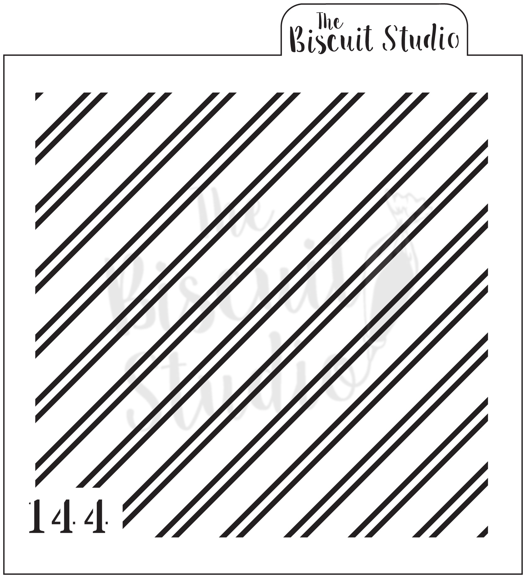 2 Size Diagonal Lines Cookie Stencil The Biscuit Studio