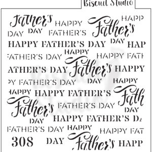 *Happy Father's Day background cookie stencil