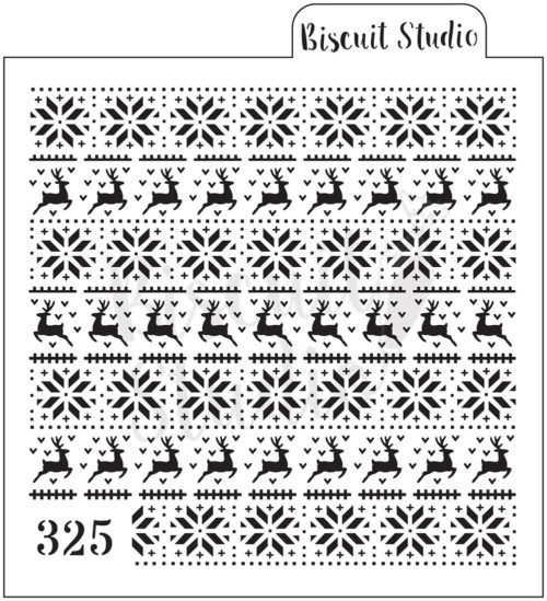 Nordic pattern cookie stencil