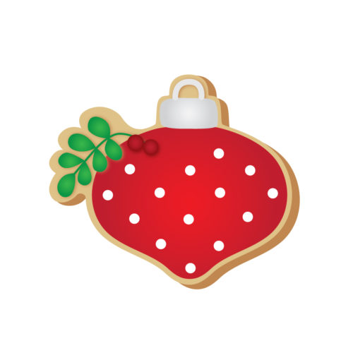 TBS bauble with foliage cookie cutter