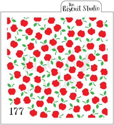 Apple background cookie stencils (2 stencils)
