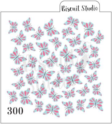 Butterflies 3 set background cookie stencil