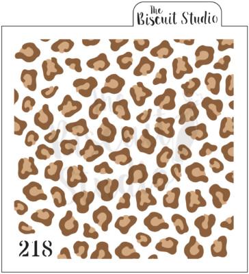 *Cheetah print cookie stencil (2 stencils)