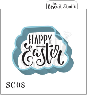 Happy Easter Cookie Cutter & Stencil Set