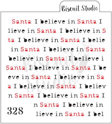 I believe in Santa background cookie stencil