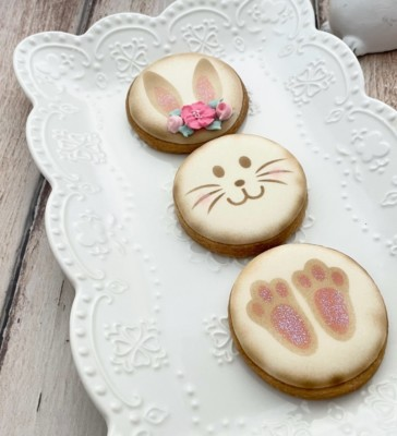 Make a bunny cookie stencil set of 5