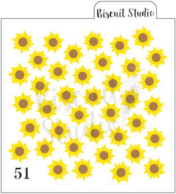 Sunflower background cookie stencil (2 set)