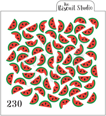 Watermelon background cookie stencil (3 set)
