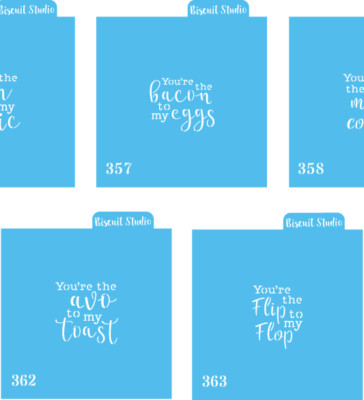 You're the..... cookie stencil set of 5