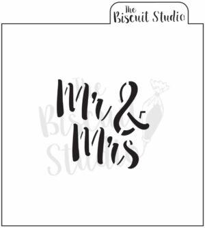 Mr. & Mrs cookie stencil