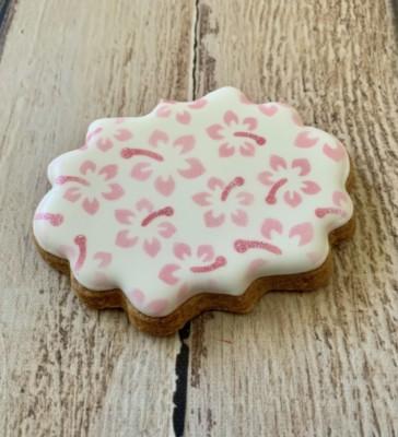 *Hibiscus cookie stencil 2 set