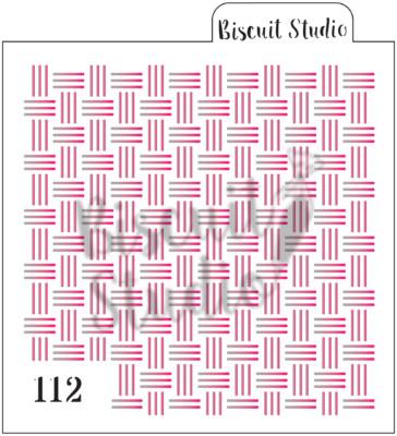 Basket weave background stencil