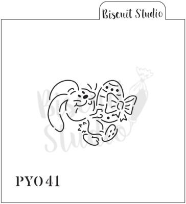PYO Bow Bunny cookie stencil