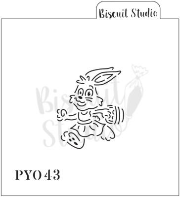 PYO Bunny Girl cookie stencil