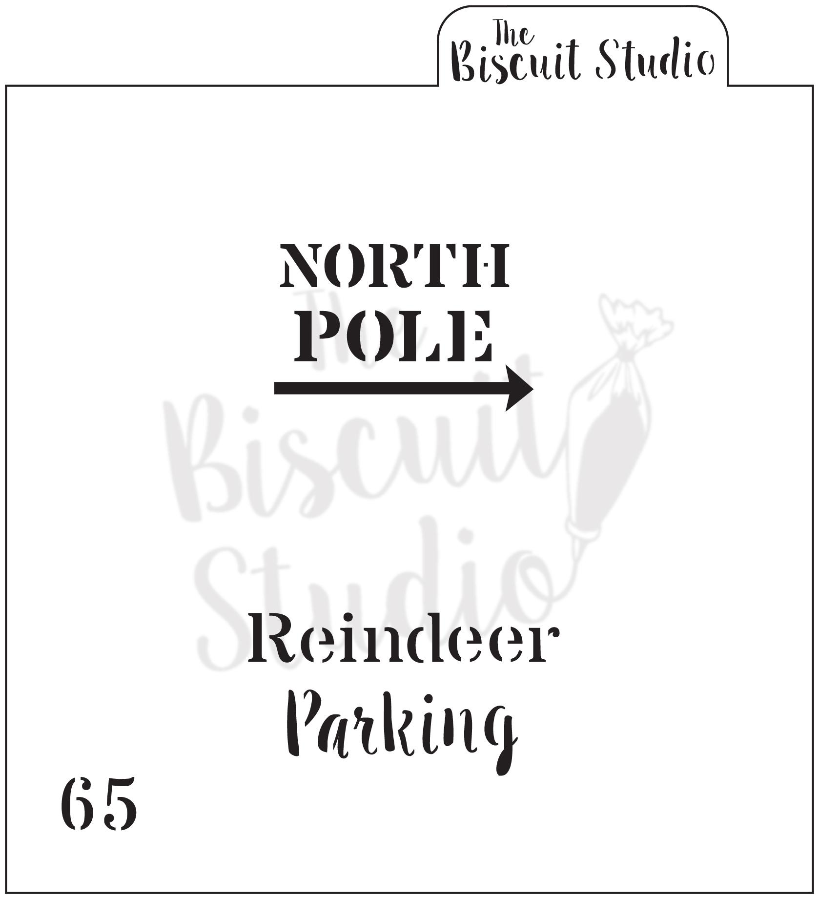 Christmas north pole sleigh rides cookie stencil