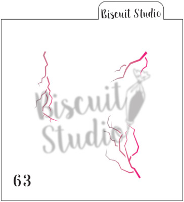 *Cracks, veins or lightning cookie stencil