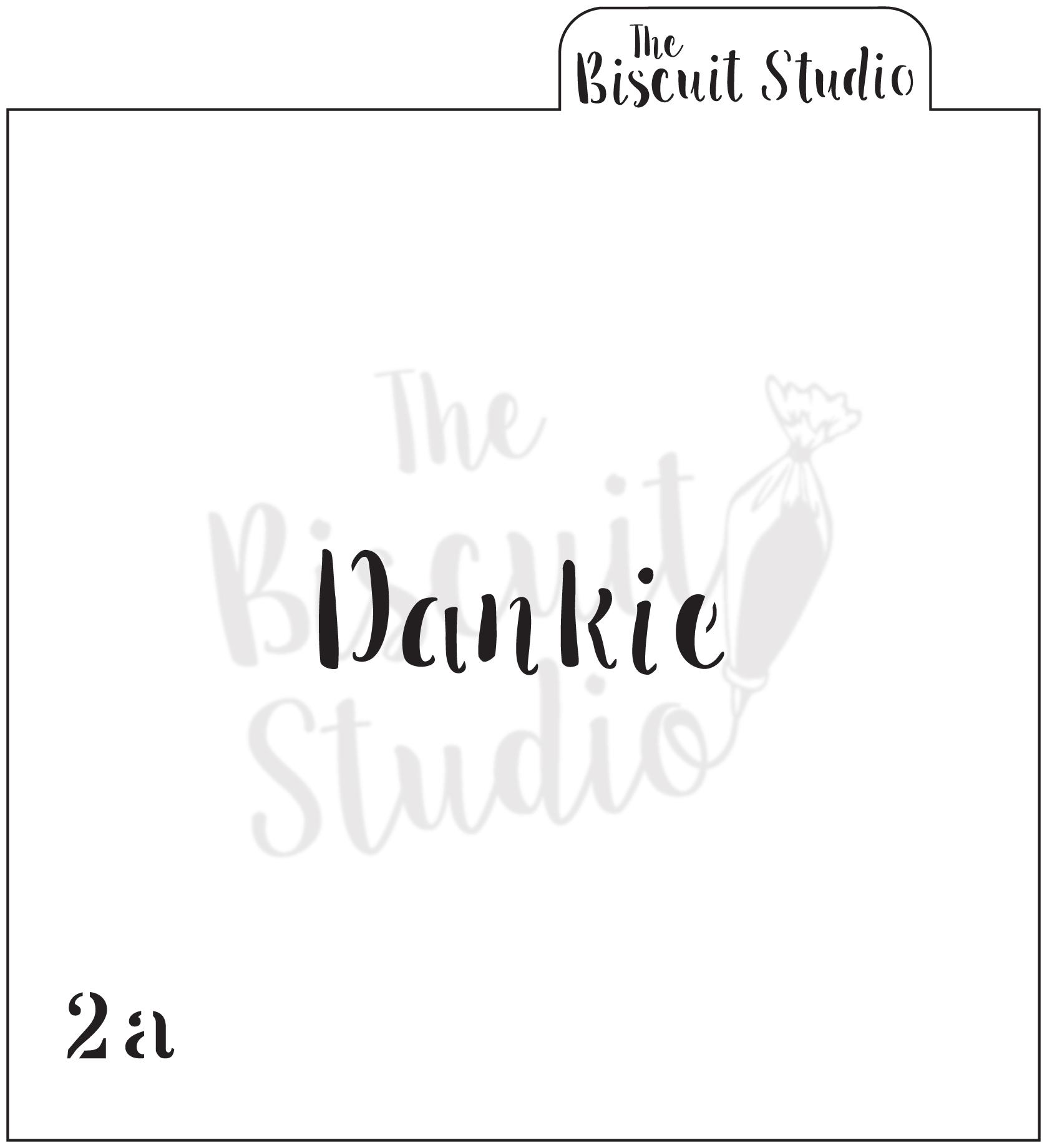 Dankie cookie stencil
