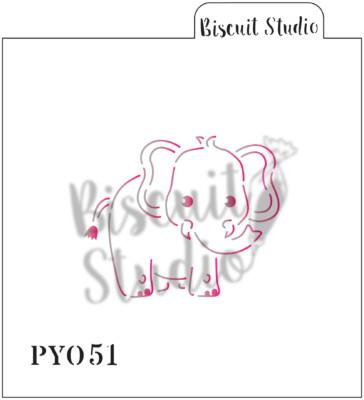 PYO Elephant cookie stencil
