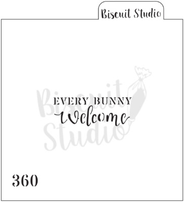 Every Bunny Welcome cookie stencil