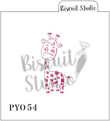 *PYO Giraffe cookie stencil