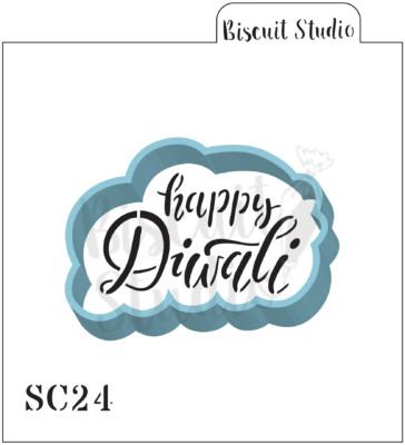 Happy Diwali cookie stencil/cutter set