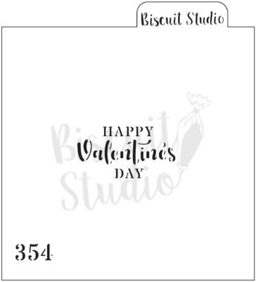 Happy Valentine's Day Cookie Stencil