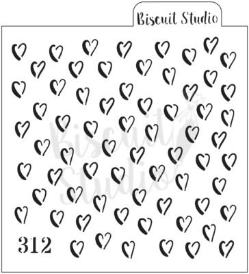 Boho heart background cookie stencil