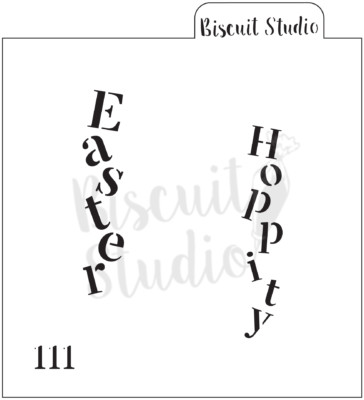 Easter words (vertical) cookie stencil