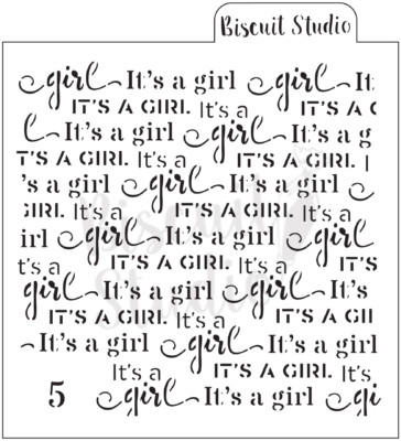 *It's a girl background cookie stencil