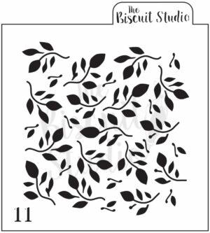 Leaf pattern cookie stencil