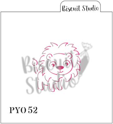 PYO Lion cookie stencil