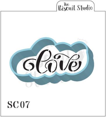 Love Cookie Cutter & Stencil Set