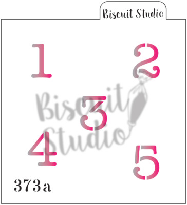 *Number typewriter 0-9 cookie stencil (2 set)