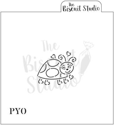 PYO ladybird cookie stencil