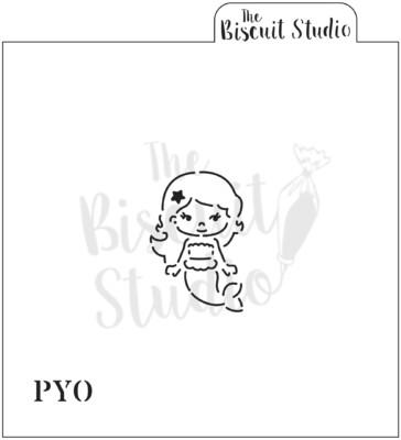 PYO mermaid cookie stencil