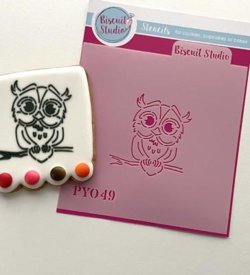 PYO Owl cookie stencil