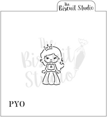 *PYO princess cookie stencil