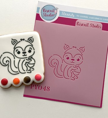 PYO Squirrel cookie stencil