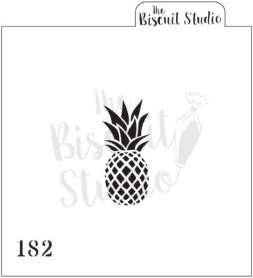 Pineapple cookie stencil