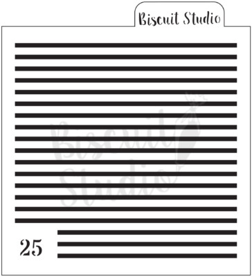 Thin stripes cookie stencil