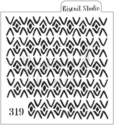 Boho triangles background cookie stencil