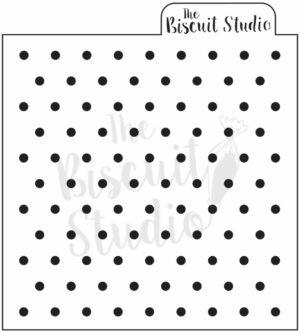 Dots background cookie stencil