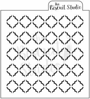 Quatrefoil design cookie stencil