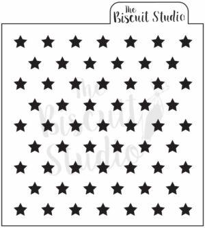 Stars cookie stencil